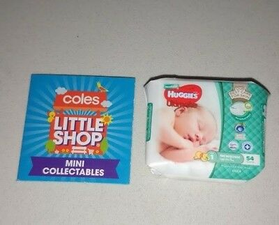 Coles Little Shop - Huggies Newborn Nappies Mini Collectable Toy Rare NEW