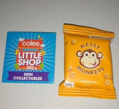 Coles Little Shop - Messy Monkeys Burger Mini Collectable Toy Rare NEW