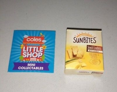 Coles Little Shop - Sunbites Snack Crackers Mini Collectable Toy Rare NEW