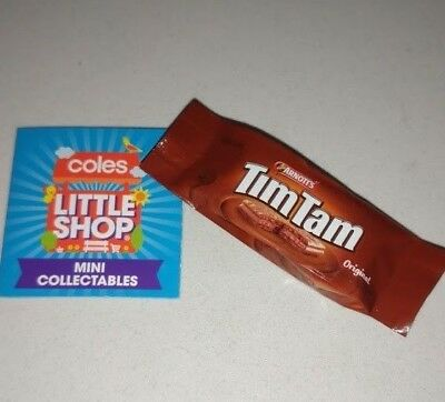 Coles Little Shop - Arnotts Tim Tam TimTam Biscuit Mini Collectable Toy Rare NEW