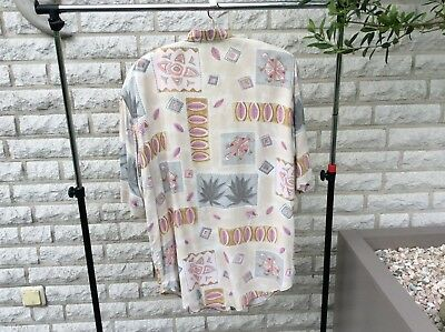 Bluse 80-er Jahre Shirt Retro True Vintage Old Fashion Gr.38