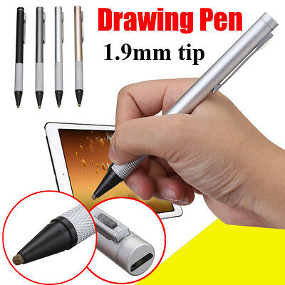 Capacitive Active Touch Screen Stylus Drawing Pen 1.9mm Fine Tip For Tablet iPad