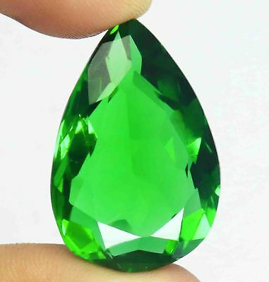 46.05Ct EGL Certified Green Moldavite Exclusive Pear Shape Loose Gemstone BY1708