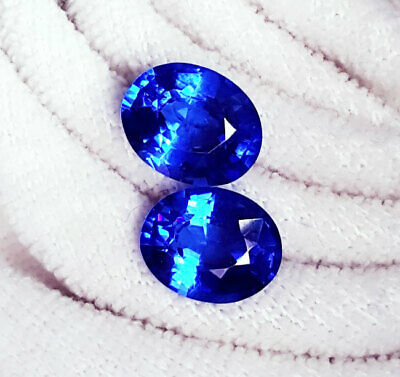 Natural Blue Sapphire Loose Gemstone 5 to 6 cts 2 Certified Pairs Best Offer