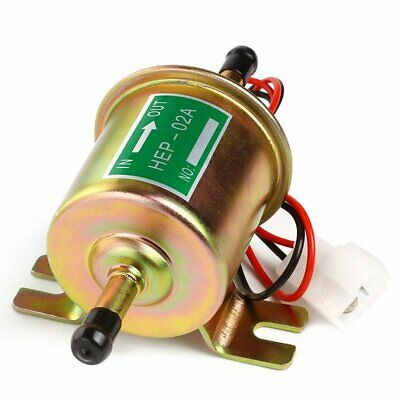 HEP-02A Big Gold Universal Fuel Pump Electric Gas Diesel Inline Low Pressure 12V