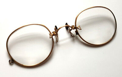 Antique Victorian 12k Gold Filled Reading Spectacles Eye Glasses Steampunk