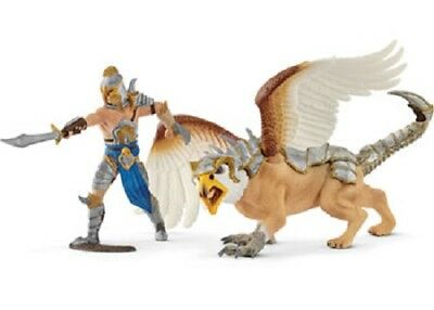 Schleich World Of Knights Eldrador Play Set 70129 - Warrior With Griffin