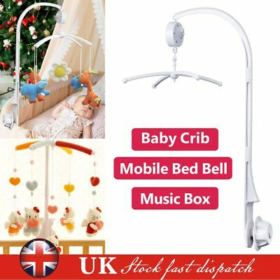 Baby Crib Mobile Hanging Bed Bell Holder DIY Toy Arm Bracket Wind-up Music