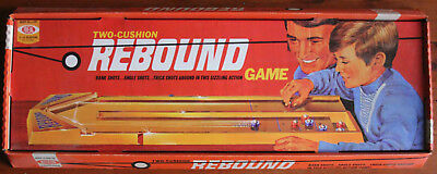 Vintage 1971 Two-Cushion Rebound Game by Ideal, Complete. Outstanding Condition.