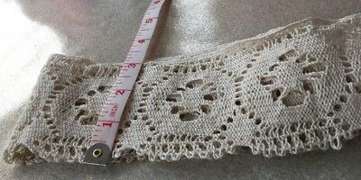"3"" Wide Vintage Lace In Cream 2.9m  Unused"