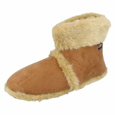 Mens Coolers Furry Ankle Boot Slippers (R30A)(J&K)