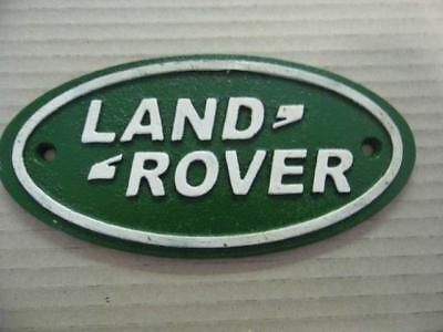 Supere Antique Vintage Style Cast Iron Advertising Sign *land Rover* Wall Plaque