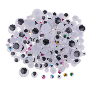250pcs Assorted Size Wiggle Eyes Googly Eyes for Kids Crafts DIY Toys Dolls