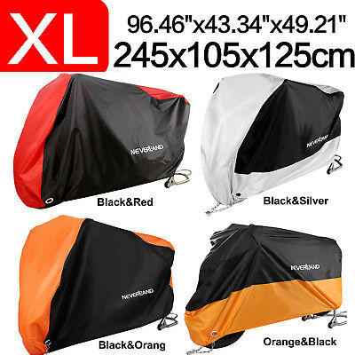 NEVERLAND XL Waterproof Motorcycle Moped Cover Sprot bike Outdoor Rain Protector