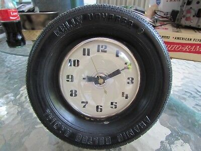 Vintage Kelly Tire Lanshire Desk Clock With Stand