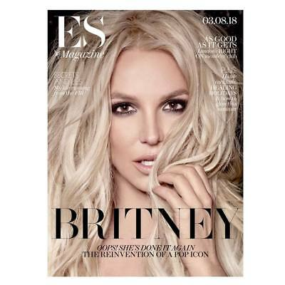 Britney Spears Interview Es Magazine 3 August 2018 Internat'l Mailing Included