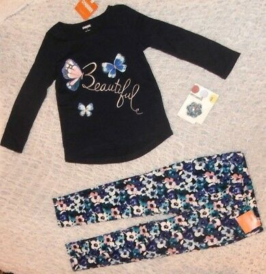 Nwt Gymboree Girls Size4 Butterfly Garden Butterfly Top Floral Pants Hair New