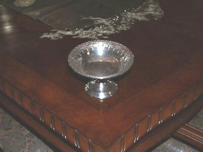 """Reed & Barton 1232 Silver Plate Riviera Pedestal Candy Nut Dish Silverplate 4"""""""