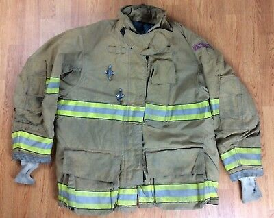 Globe GXtreme Fire Fighter Bunker Turnout Jacket w/ DRD 48 Chest x 32 Length '07