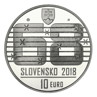 SLOWAKEI 2018 10 EURO AG  BU  Warsaw Pact invasion of August 1968