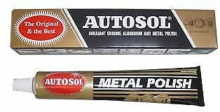 Autosol Chrome Aluminium Metal Rust Remover Polish Cleaner Cars Motorcycle Bikes