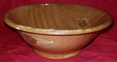 Vintage Buffalo China Pottery Soup Bowl Natural Wood Design