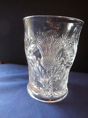 """Mosser Glass (Ohio) Inverted Thistle Clear Flat Tumbler 4""""  Replacement"""