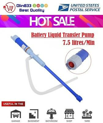 Battery Operated Electric Siphon Oil Water Petrol Liquid Transfer Pump Pipe