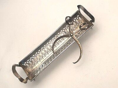 Early American Sugar Cube Tray with Scissors, Sterling Silver