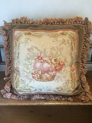 Antique Needlepoint Pillow
