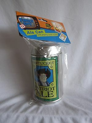 FAMILY GUY PATRIOT ALE CAN WITH CARDS new and sealed (BH)