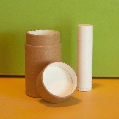 6 1.5 oz Deodorant Lotion Tubes Kraft Paper Eco Friendly Cardboard Containers