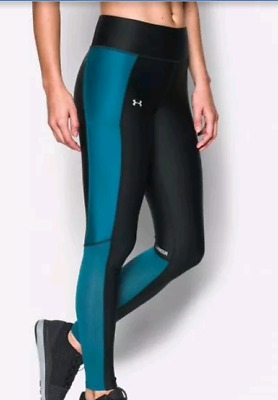 a16b4e4e33 NWT Women's UNDER ARMOUR Fly By Compression Leggings 1297935 Blk/Gray or Blk /Blu