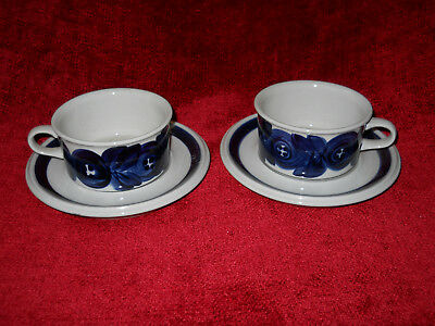 Arabia Finland Anemone  cup and saucer set of 2