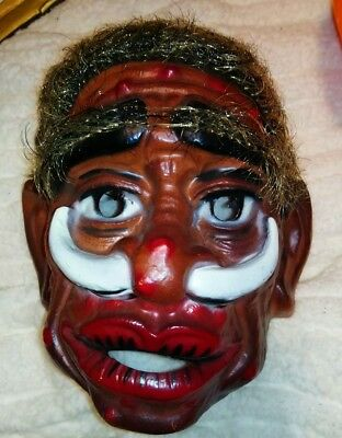 1950's VAN DAM Plastic Voodoo Tribal Tribe African jungle HALLOWEEN MASK France