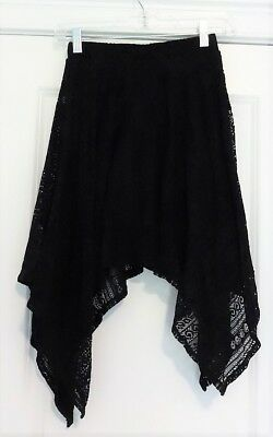 Epic Threads Size Girl's M Medium Black Lace Skirt Lined EUC