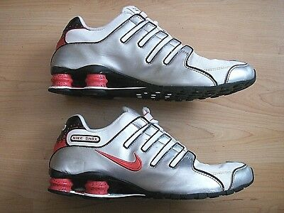 010fded7df63 NIKE SHOX NZ SL WHITE SILVER RED 366363-161 MEN RUNNING TRAINER SHOES