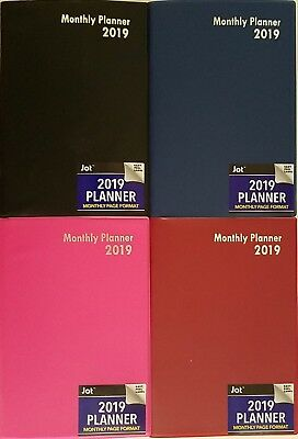 "2019 Monthly Appointment Planner Calendar Day-Timer 7.5"" x 5"", Select: Color"