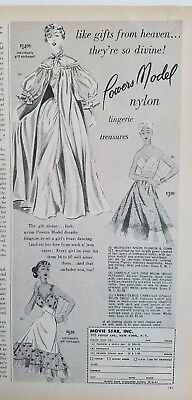 1954 Movie Star Powers model nylon lingerie slip vintage fashion ad