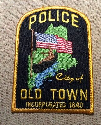 ME Old Town Maine Police Patch