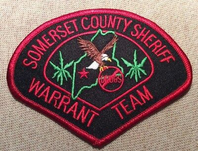 ME Somerset County Maine Warrant Team Sheriff Patch