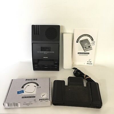 PHILIPS TRANSCRIPTION SET LFH 0720T Dictation System Wth Box & Manuals Tested!