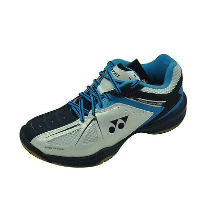 Yonex Badminton Shoe - SHB 35 (SHB35EX) - Power Cushion - White / Sky Blue