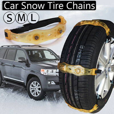 Car Snow Anti-skid Tire Chains Tendon VAN Wheel Steel Thickened TPU