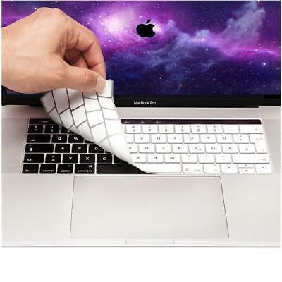 "Coque clavier QWERTZ Apple MacBook Pro 13 15"" USB C Protection Silicone Argenté"