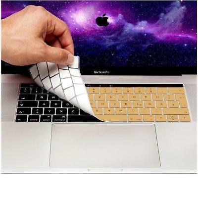 "Coque clavier QWERTZ Apple MacBook Pro 13 & 15"" USB C Protection Silicone Doré"