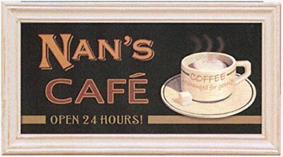 Halligan Raby Ltd Cafe Sign – Nan pour femme, noir