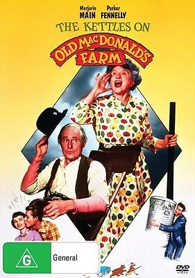 Kettles On Old McDonald's Farm, The, 2017 Comedy Marjorie Main DVD NEW
