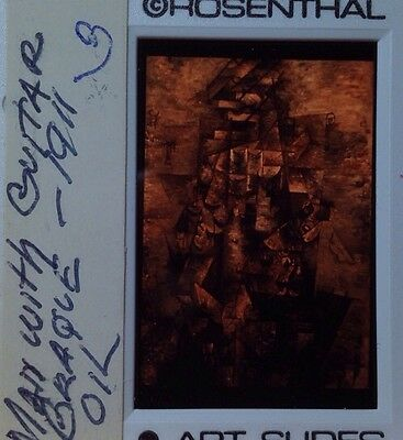 "Georges Braque ""Man With Guitar 1911"" 35mm Cubism French Modern Art Slide"