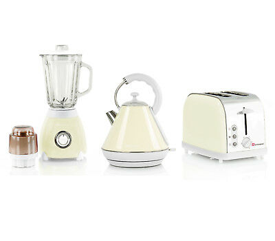 Premium Matching Kitchen Appliances Set 1.8L Kettle Toaster Blender & Grinder UK